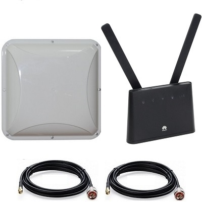 Huawei B310s-22 с антенной MIMO (14 dBi) + кабель 2 х10 м панельной направленной 4G 3G LTE Cat4 WIFI роутер универсальный