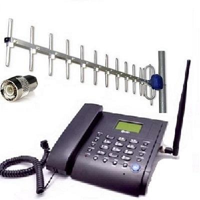 Kit MT3020b Стационарный сотовый телефон GSM под сим карту (Даджет) (чёрный) с антенной внешней направленной купить Антенна комплектуется кабелем длиной 10 м