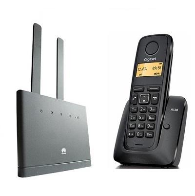 Комплект SHOPCARRY SIM 310-1 стационарный сотовый радио DECT телефон   GSM/4G/3G WIFI и роутер универсальный