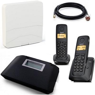 Комплект Shopcarry sim v2n2-a стационарный сотовый радио dect телефон gsm с антенной внешней панельной
