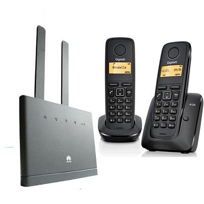 Комплект SHOPCARRY SIM 310-2 стационарный сотовый радио DECT телефон GSM/4G/3G WIFI и роутер