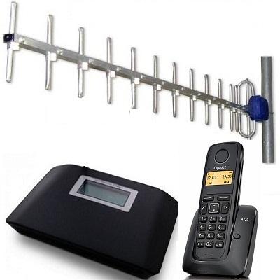 Комплект ShopCarry SIM v231а стационарный сотовый радио DECT телефон GSM с антенной внешней направленной