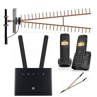 Комплект SHOPCARRY SIM 315-2А стационарный сотовый радио DECT телефон GSM/4G/3G WIFI роутер универсальный c широкополосной антенной купить