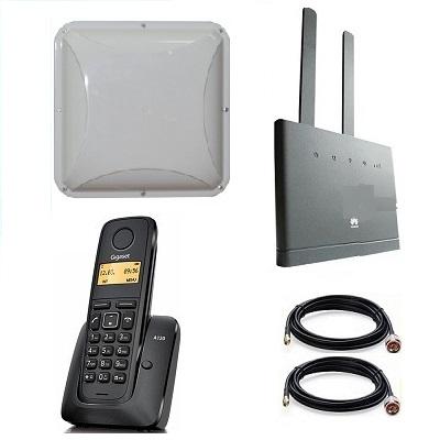 Комплект SHOPCARRY SIM 310-1P стационарный сотовый радио DECT телефон GSM/4G/3G WIFI и роутер универсальный с антенной MIMO