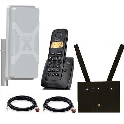 Комплект SHOPCARRY SIM 315-1N стационарный сотовый радио DECT телефон GSM/4G/3G WIFI и роутер универсальный с антенной  MIMO купить