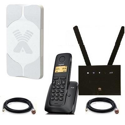 Комплект SHOPCARRY SIM 315-1AA стационарный сотовый радио DECT телефон GSM/4G/3G WIFI и роутер универсальный с антенной MIMO купить