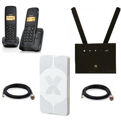 Комплект ShopCarry SIM 315-2AA стационарный сотовый радио DECT телефон с двумя трубками GSM/4G/3G WIFI роутер и антенна MIMO купить
