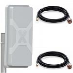 NITSA-5 MIMO 2x2 антенна внешняя 4G/3G/2G/WIFI LTE-A широкополосная панельная с SMA кабелем 5D 2 х 15 м