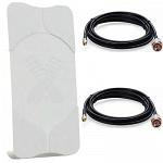 Antex AGATA-2 MIMO 2x2 широкополосная панельная антенна 4G/3G/2G (15-17 dBi)+ SMA кабель 5 м х 2 Huawei B310s-22, B315s-22, B525s-23a, E5186 и т.п.