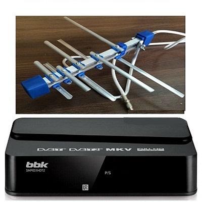 BBK SMP001HDT2 Ресивер DVB-T2 с комнатной антенной