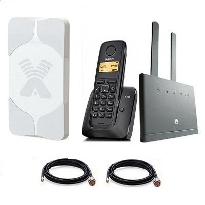 Комплект SHOPCARRY SIM 310-1AA стационарный сотовый радио DECT телефон GSM/4G/3G WIFI и роутер универсальный с антенной MIMO