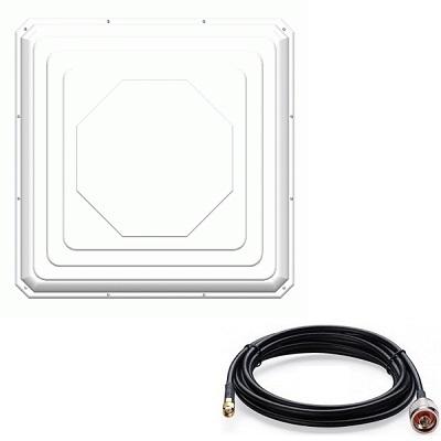 Antex ZETA антенна 4G/3G/2G (17-20dBi) разъём широкополосная панельная + кабель 10 м разъем SMA-male