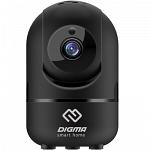 Digma DiVision 201B p2p ip камера видеонаблюдения wifi поворотная с удаленным доступом черная