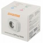 Digma DiPlug 160M Умная розетка Wi-Fi дистанционное вкл/выкл приборов