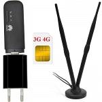 Huawei E8372h-153 с Антенной MIMO black USB WiFi роутер-модем 4G 3G GSM универсальный