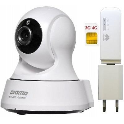 ShopCarry Cam360-1 видеокамера под сим карту для онлайн наблюдения (комплект) поддержка android,ios