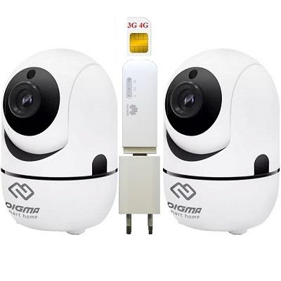 ShopCarry Cam361W-2 видеонаблюдения 3g 4G поворотная 2-е камеры (комплект)