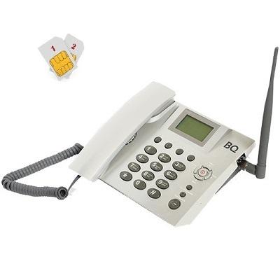 BQ-2052 Point Стационарный сотовый телефон GSM под 2 сим карты бело-серый