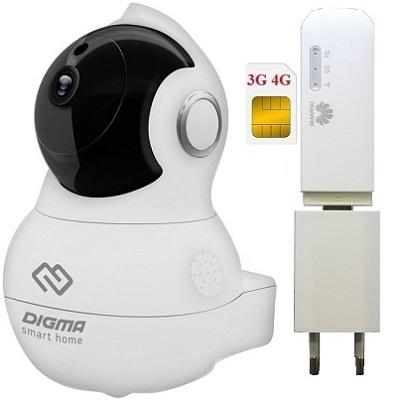 Shopcarry Cam 364-1 беспроводная камера видеонаблюдения под сим 3g 4g поворотная (комплект)