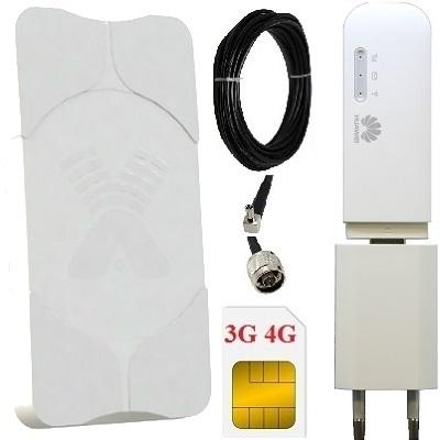 ShopCarry MR8372AM Комплект модем-роутер 4G 3G GSM WiFi с антенной MIMO 18dBi направленной уличной