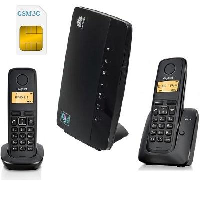 ShopСarry Sim 68-2 стационарный сотовый телефон 3G GSM с 2-мя радиотрубками под сим карту (комплект)