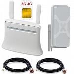ZTE MF283 4G LTE Wi-Fi роутер с антенной MIMO панельной и кабелем 2х10м