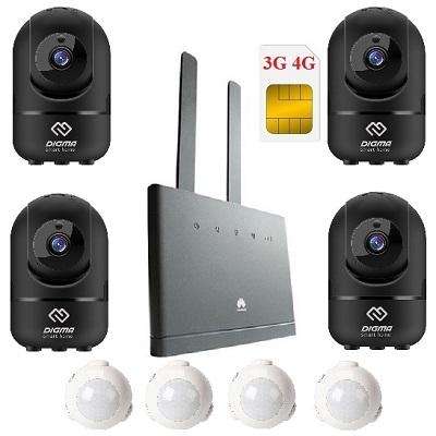 Shopcarry Cam888 Alarm комплект камер видеонаблюдения 3g 4g поворотных с датчиками движения