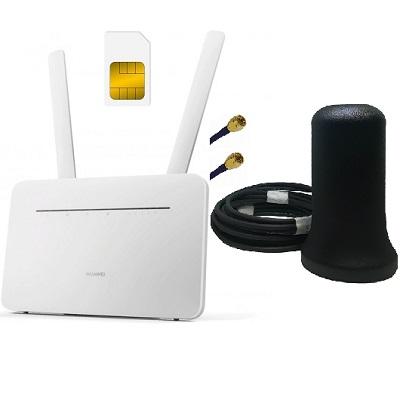 Huawei B535-232 с антенной ShopCarry M2 4G 3G LTE WiFi роутер до 300 Мбит.с