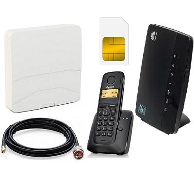 ShopCarry SIM 68-1AN стационарный сотовый телефон 3G GSM с радиотрубкой под сим карту с антенной (комплект)
