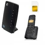 ShopCarry Sim 68-1 стационарный сотовый телефон 3G GSM с радиотрубкой под сим карту (комплект)