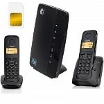 ShopCarry Sim 68-2 стационарный сотовый телефон 3G GSM с 2-мя радиотрубками под сим карту (комплект)