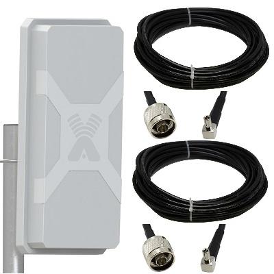 Antex Nitsa-5 Mimo 2x2 с 2-мя кабелями 5 метров разъем Ts9