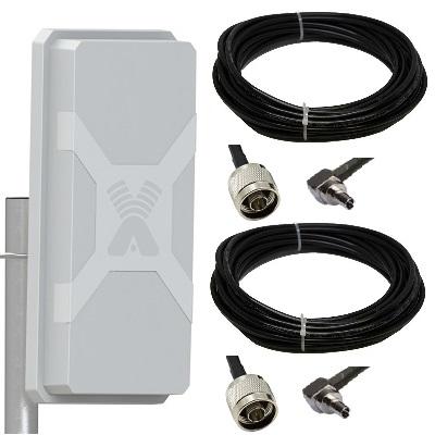 Antex Nitsa-5 Mimo 2x2 с 2-мя кабелями 5 метров разъем Crc9