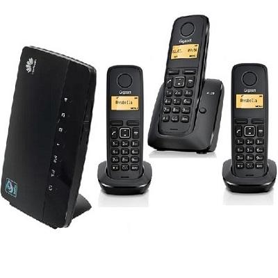 ShopCarry Sim 68-3 стационарный сотовый телефон 3G GSM с 3-мя радиотрубками под сим карту (комплект)