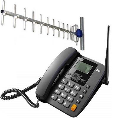 BQ 2410 Point Стационарный сотовый телефон GSM под 2-е СИМ карты с уличной антенной