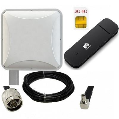 ShopCarry M3372P комплект USB модем 4g 3g gsm с антенной уличной направленной