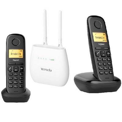 Shopcarry Sim 682 стационарный сотовый телефон 4g 3g Gsm с 2-мя радиотрубками под сим карту (комплект)